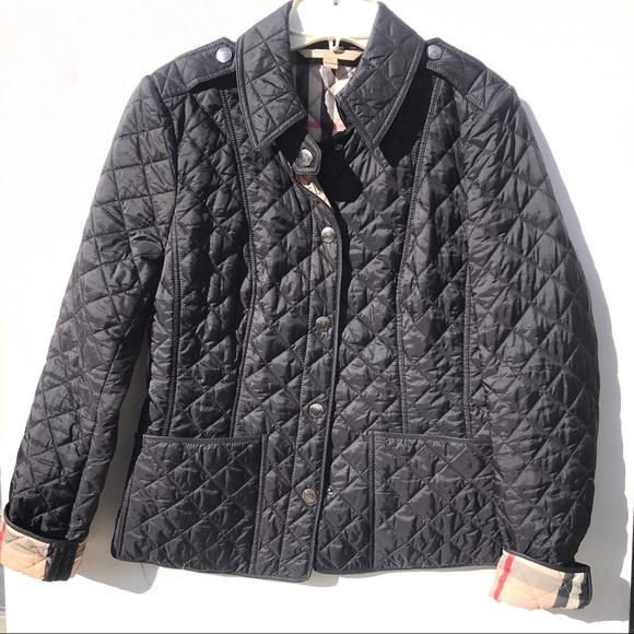 Burberry Brit quilt black jacket small authentic